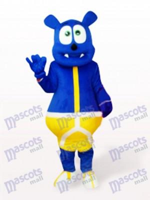 Blue Bear Monster Cartoon Mascot Costume