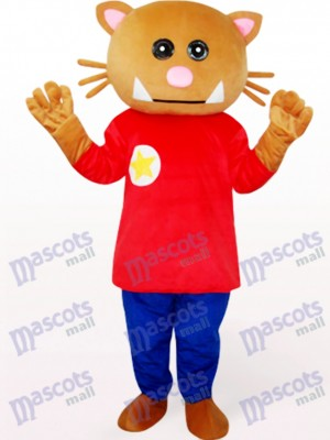 Bear In Red Clothes Animal Mascot Costume