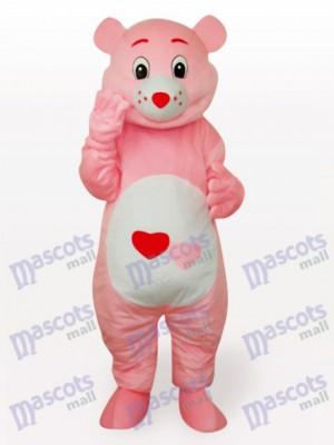 Red Heart Bear Anime Mascot Funny Costume