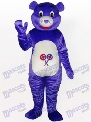 Purple Bear Animal Mascot Costume