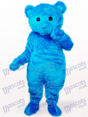 Blue Long Hair Bear Animal Mascot Costume