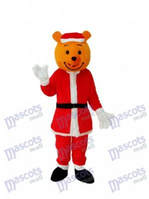 Yellow Christmas Bear Mascot Adult Costume Animal