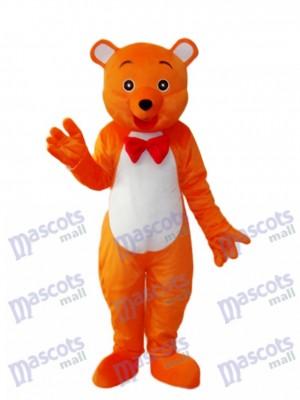 Orange Bear Mascot Adult Costume Animal