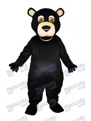 Round Mouth Black Bear Adult Mascot Costumes Animal