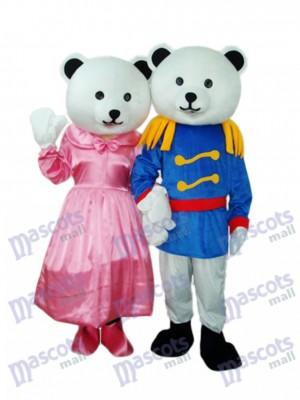 General Bear Couple Mascot Adult Costume Animal