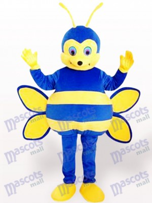 Blue Bee Insect Mascot Costume
