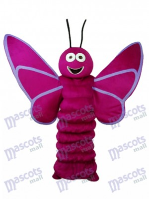 Purple Butterfly Mascot Adult Costume Insect