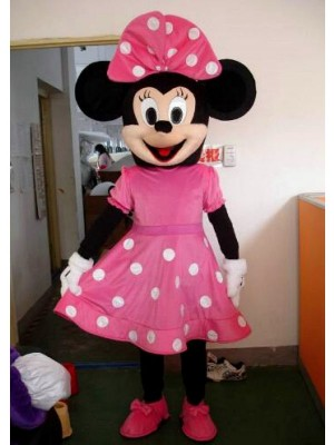Hot Sale Pink Minnie Mouse Adult Mascot Costume