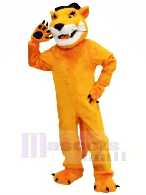 Brown Cougar with Long Beard Mascot Costumes Animal