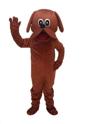Cute Reddish Brown Rooney Dog Mascot Costume