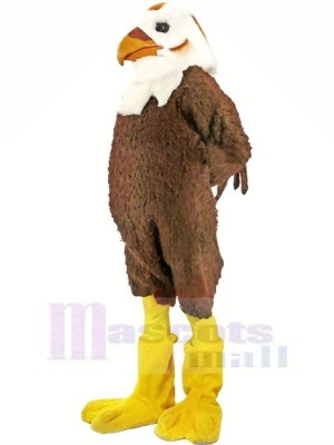 Strong Brown and White Hawk Mascot Costumes Animal