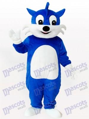 Blue Cat Adult Mascot Costume