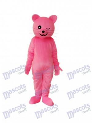 Pink Cat Mascot Adult Costume Animal