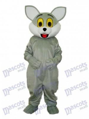 Grey Cat Mascot Adult Costume Animal