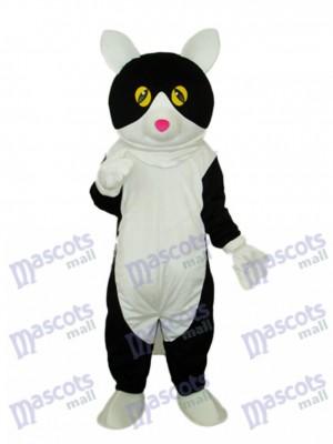 White Belly Black Cat Mascot Adult Costume Animal