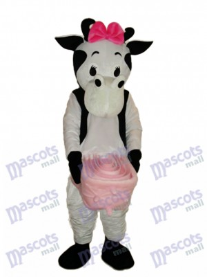 Pink Bow Cow Mascot Adult Costume Animal
