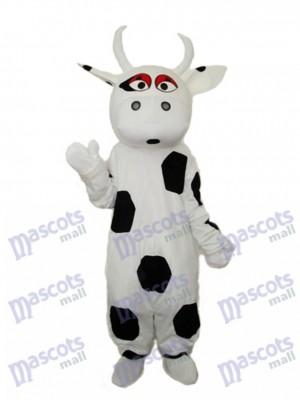Big Black Dot Cow Mascot Adult Costume Animal