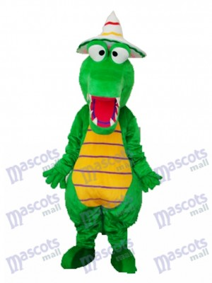 Crocodile with Hat Mascot Adult Costume Animal
