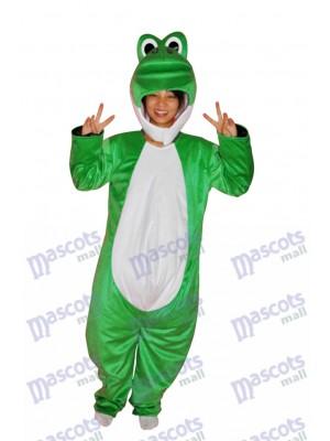 Super Cute Show Face Green Dinosaur Adult Mascot Costume Animal