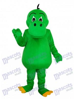 Round Mouth Green Dinosaur Mascot Adult Costume Animal