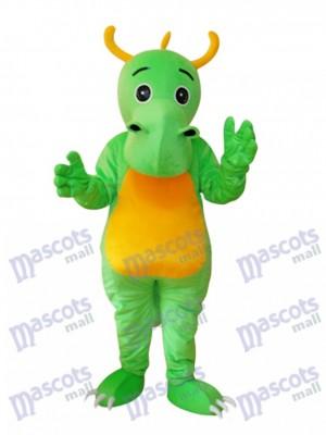 Big Nose Horned Green Dinosaur Mascot Adult Costume Animal