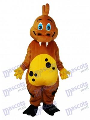 Golden Brown Dinosaur Mascot Adult Costume Animal