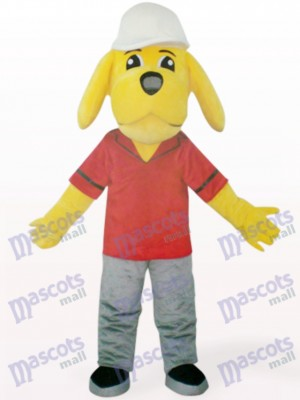 Yellow Naught Dog Animal Mascot Costume