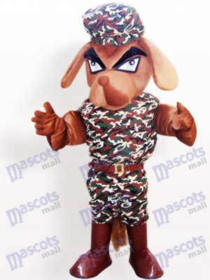 Camouflage Coat Dog Animal Adult Mascot Costume