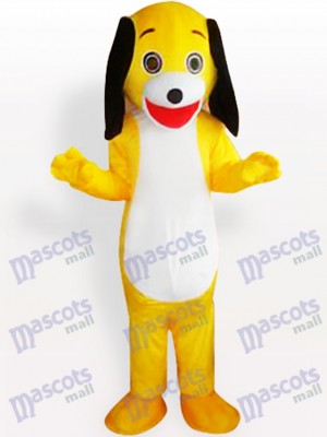Yellow Little Dog Adult Mascot Costume