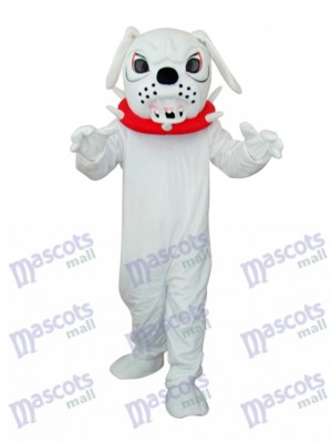 White Angry Dog Adult Mascot Costume Animal