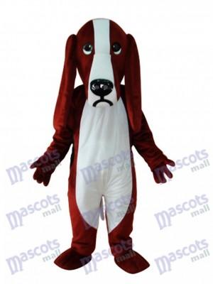 Reddish and White Dog Adult Mascot Costume Animal