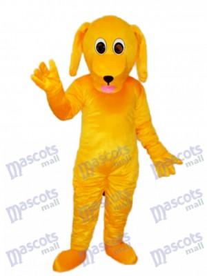 Yellow Dog Mascot Adult Costume Animal