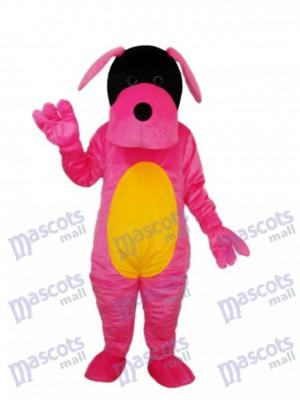 Pink Dog Mascot Adult Costume Animal