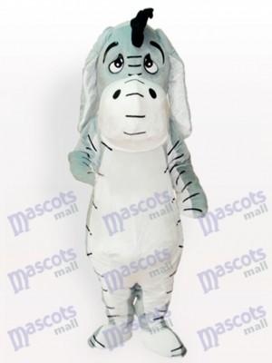 Grey Donkey Adult Mascot Costume