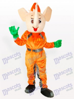Yellow Elephant Adult Mascot Costume