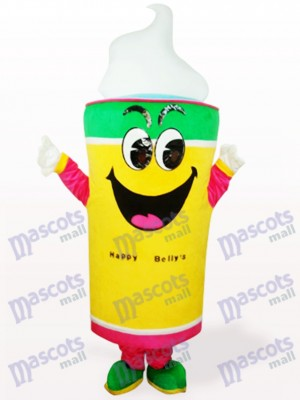Yellow Ice Cream Food Adult Mascot Costume