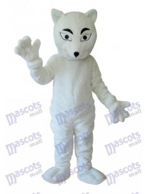White Fox Mascot Adult Costume Animal