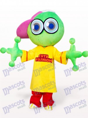 Green Big Head Frog Adult Mascot Costume