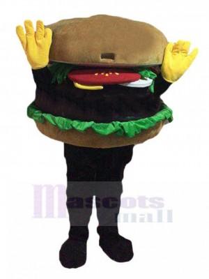 Hands Up Hamburger Mascot Costume