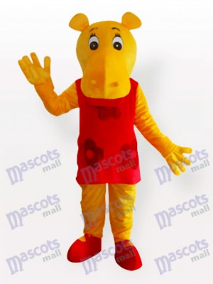 Miss Hippo Adult Mascot Costume