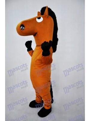 Brown Horse Plush Adult Mascot Costume Animal
