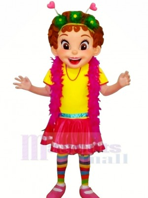 Nancy with Colorful Clothes Mascot Costumes People