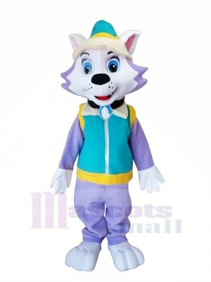 Paw Patrol Dog with Blue Vest Mascot Costumes Cartoon
