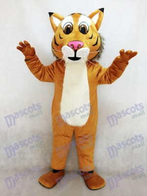 Fierce New Friendly Bobcat Mascot Costume