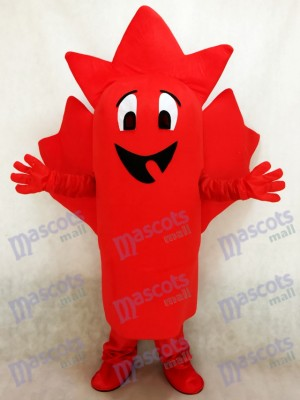 Red Maple Leaf Mascot Costume