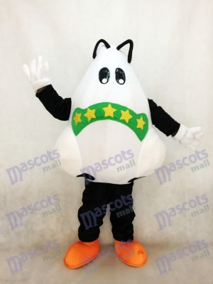Cute Big Nose with Green Bandage Mascot Costume