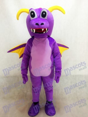 Cute Purple Thorn Dragon Mascot Costume