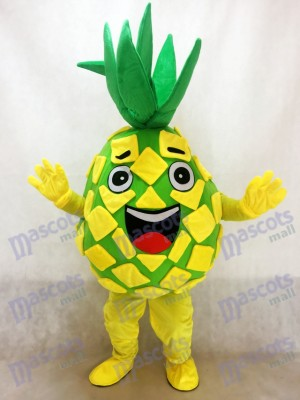 Yellow Pineapple Pete Mascot Costume Fruit