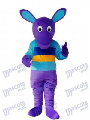 Purple Kangaroo Mascot Adult Costume Animal