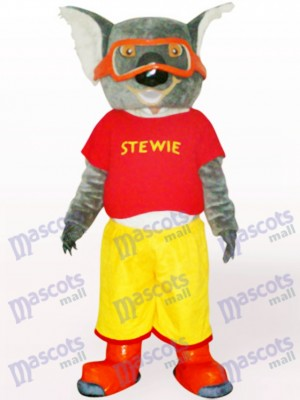 Skiing Koala In Red Clothes Adult Mascot Costume